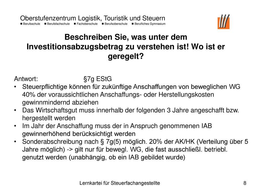 sonderabschreibung 7g estg