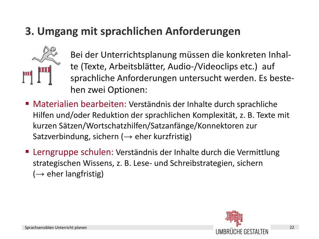 Sprachsensiblen Unterricht planen - ppt herunterladen