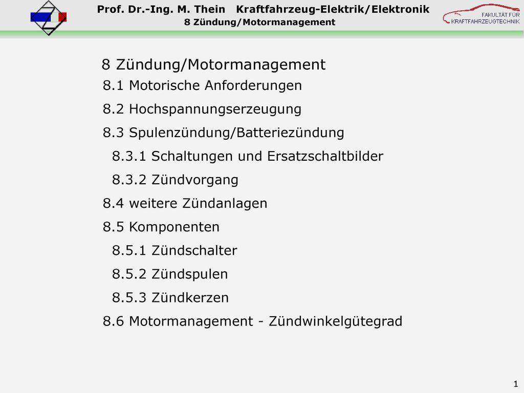 8 Zündung/Motormanagement - ppt herunterladen