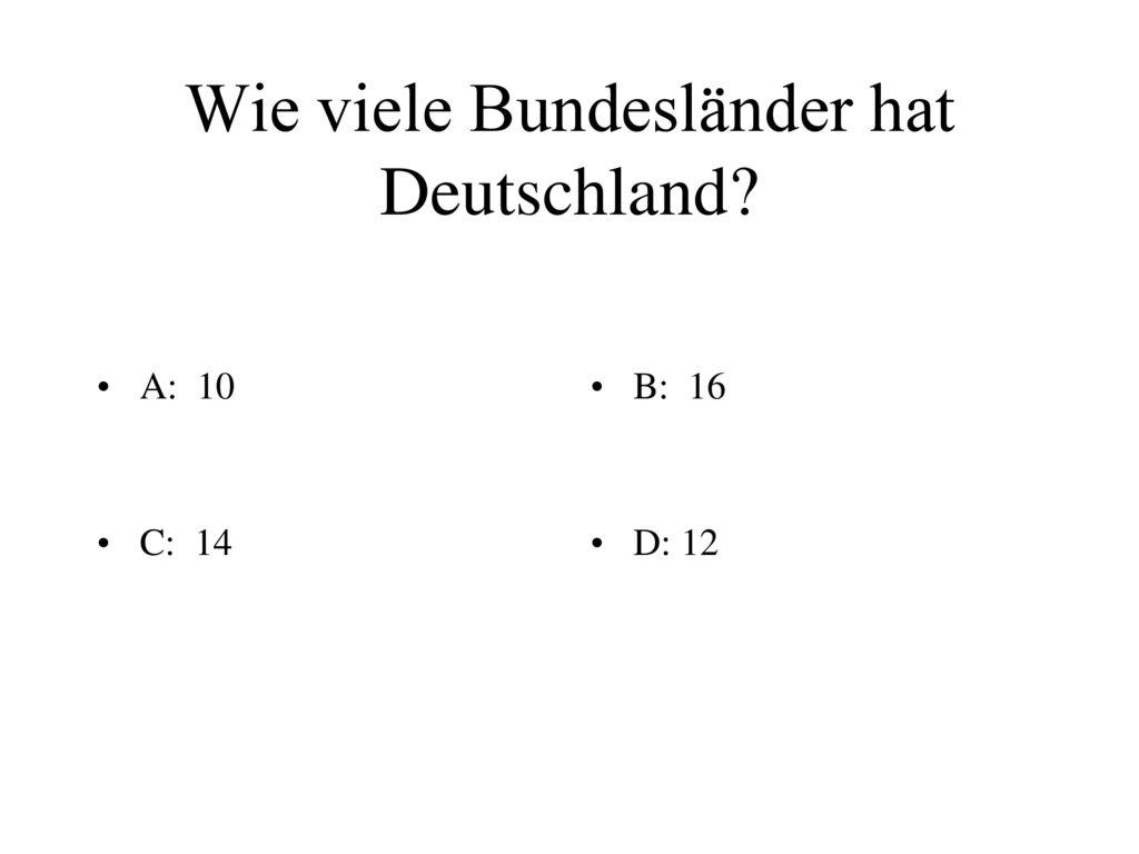 Quiz Zahlen Und Fakten über Deutschland Ppt Herunterladen