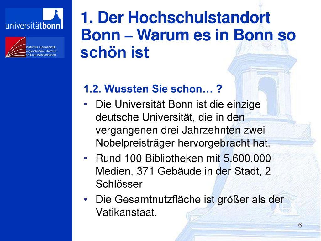 Der Hochschulstandort Bonn – Warum es in Bonn so schön ist