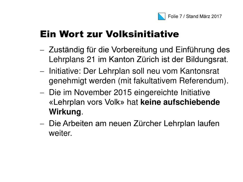 Zürcher Lehrplan 21 Kurzinformation für Eltern Stand: März ppt ...