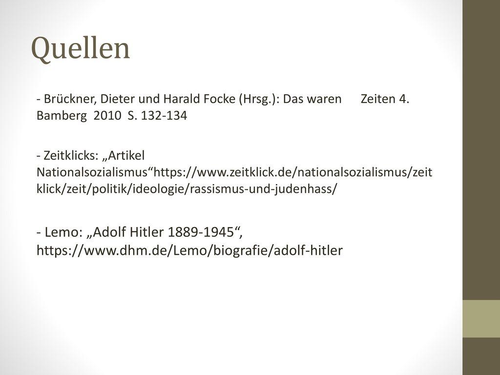 11 quellen brckner - Lebenslauf Hitler