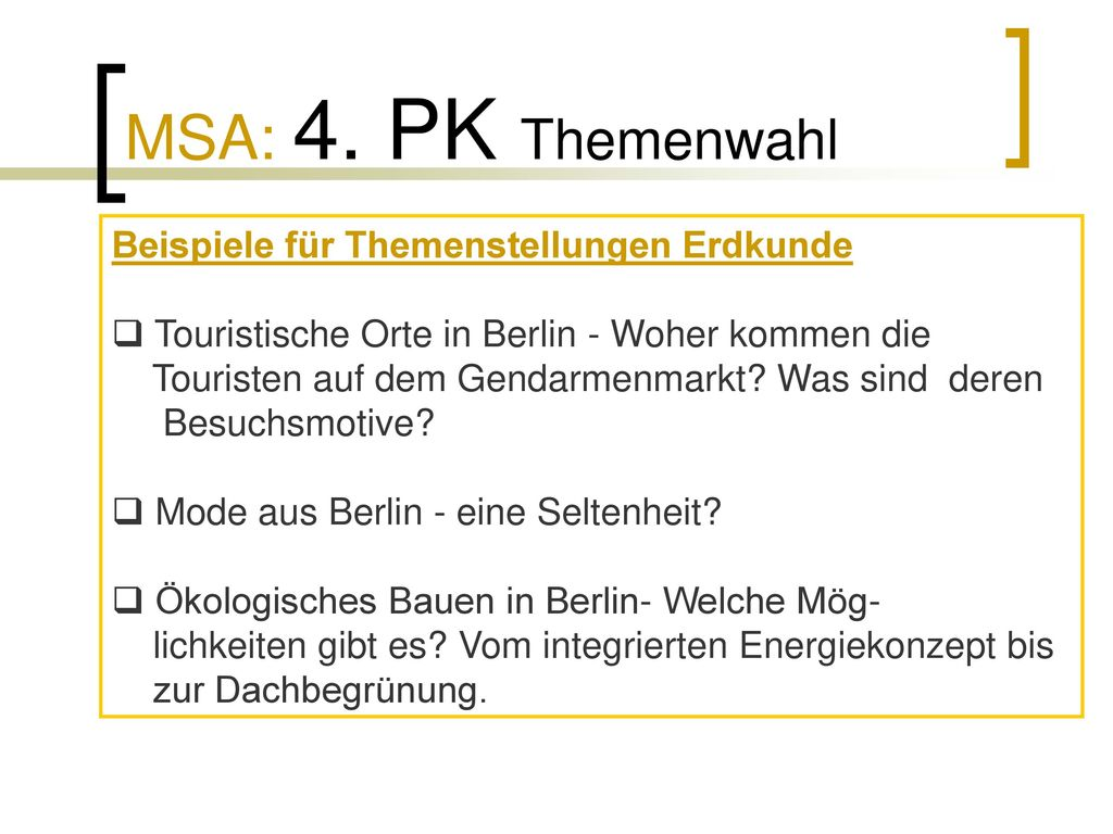 Informationen zum MSA 2017 Johann- Gottfried- Herder