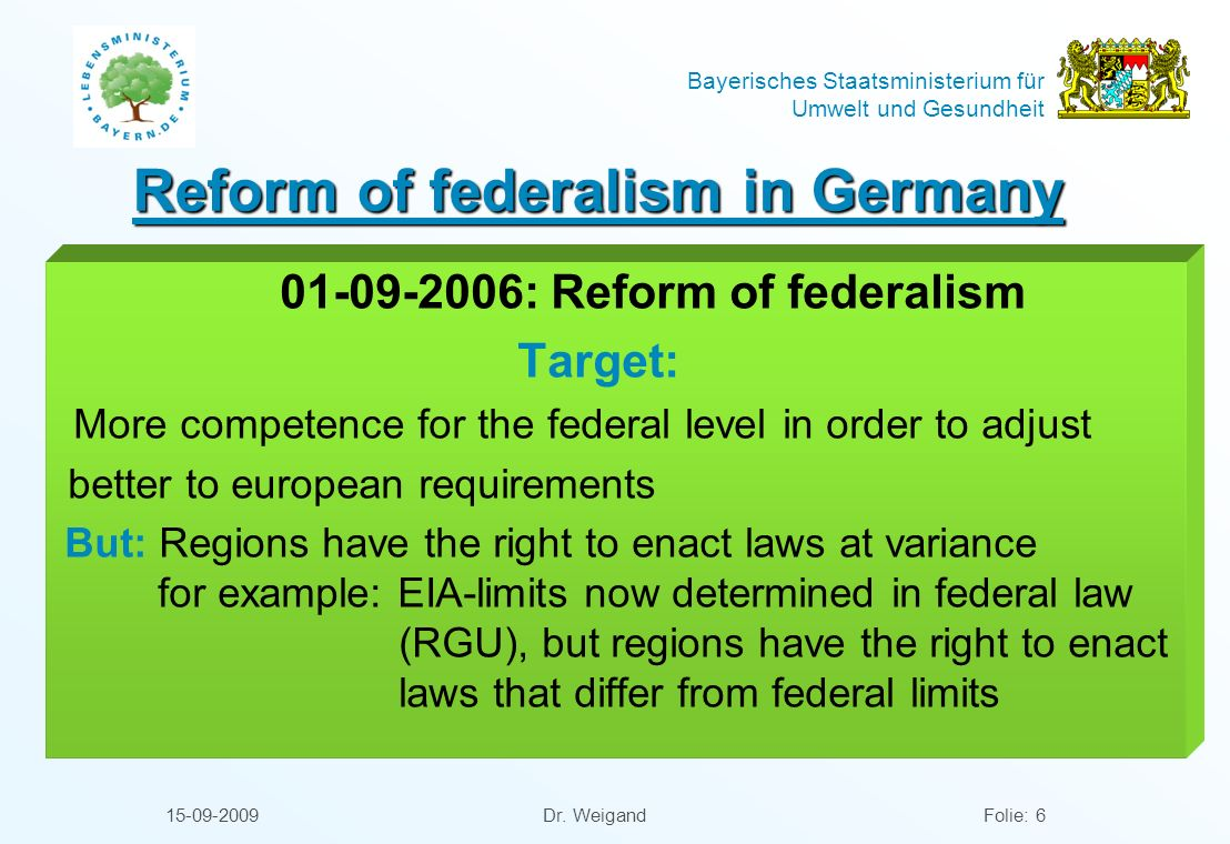 Reform of federalism in Germany