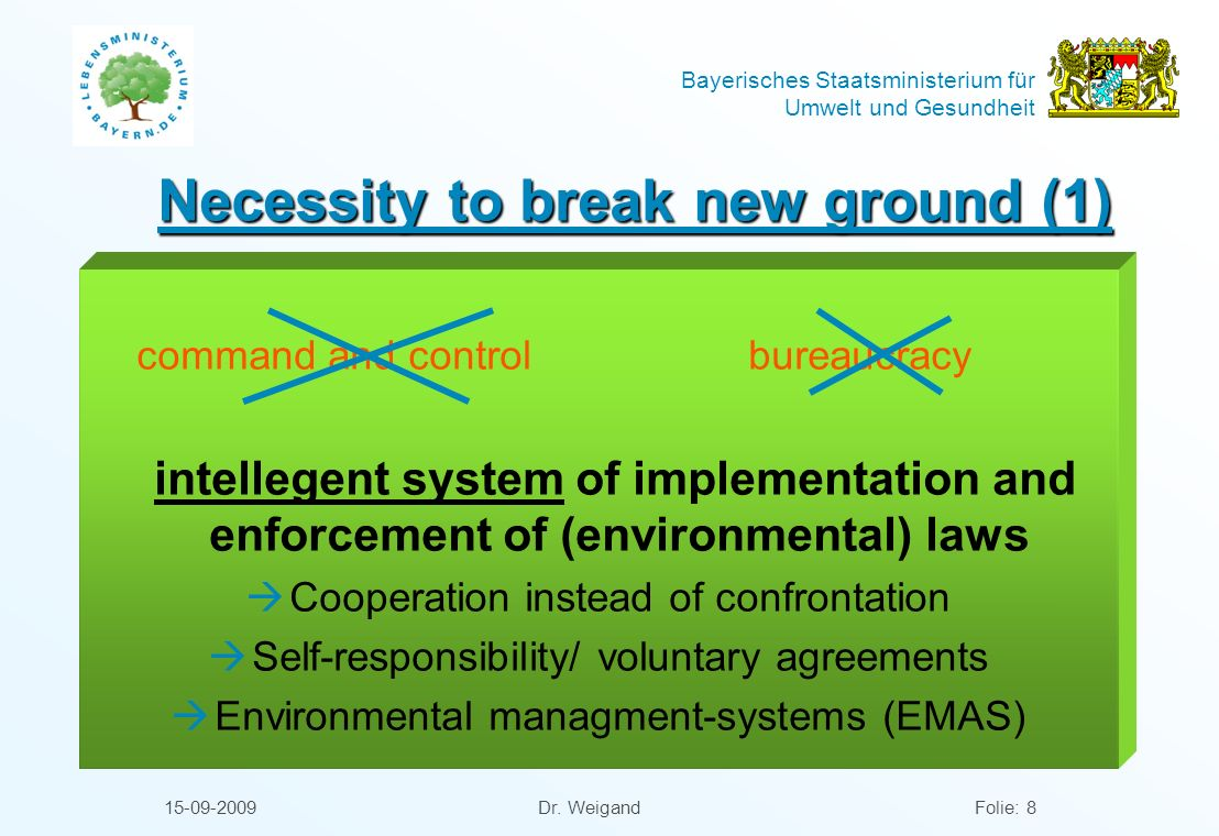 Necessity to break new ground (1)
