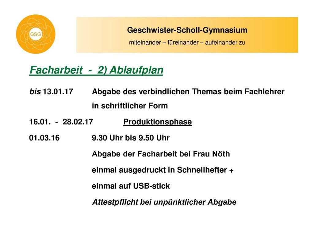 Geschwister Scholl Gymnasium Ppt Herunterladen