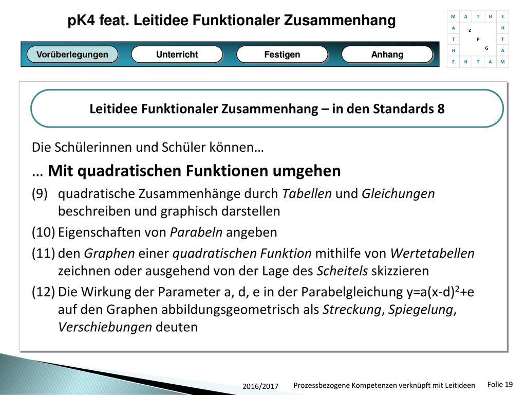 Leitidee Funktionaler Zusammenhang feat. pK4 - ppt herunterladen