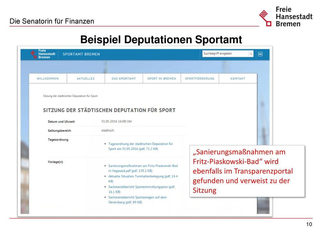 Ausgangslage: Anforderungen der Ortsämter/Beiräte - ppt herunterladen