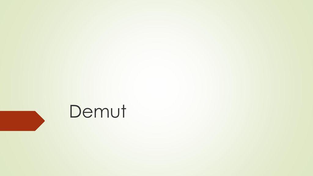 was ist demut