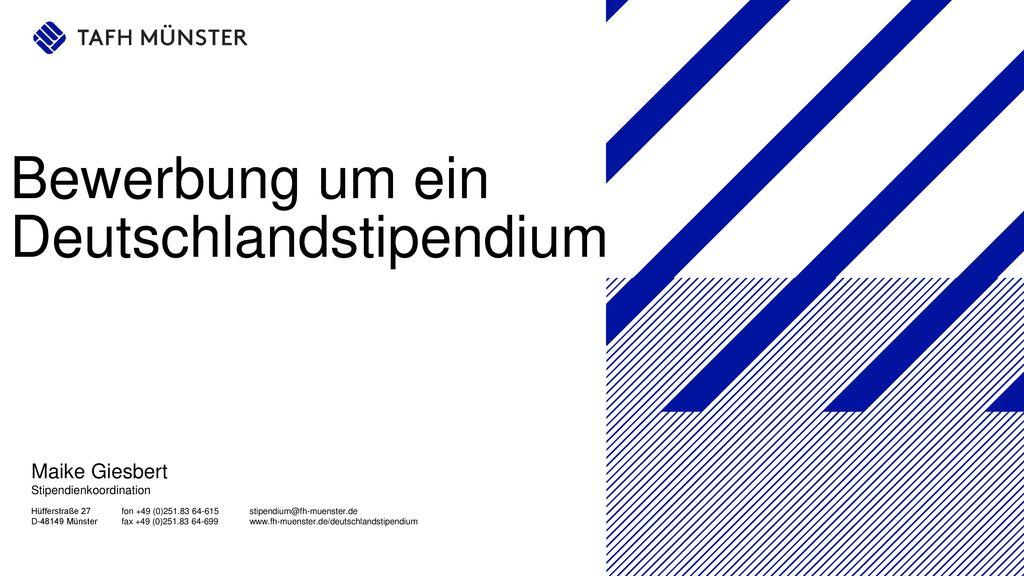 bewerbung um ein deutschlandstipendium - Bewerbung Deutschlandstipendium