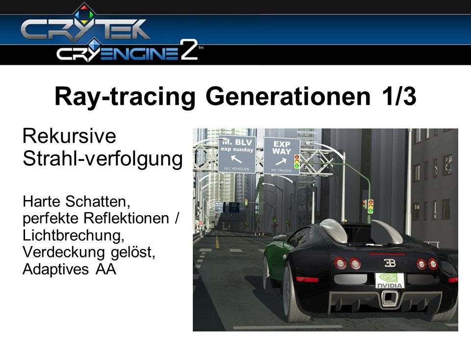 Ray-tracing Generationen 1/3