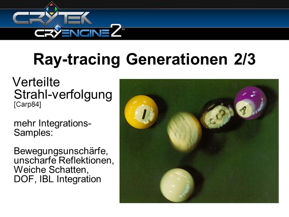 Ray-tracing Generationen 2/3
