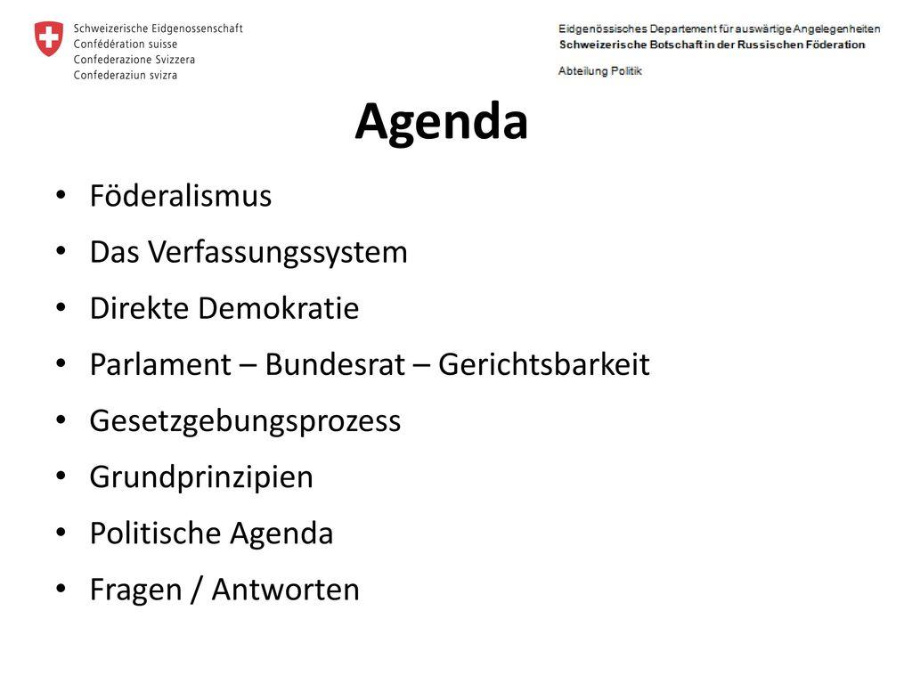 Das politische System der Schweiz - ppt herunterladen