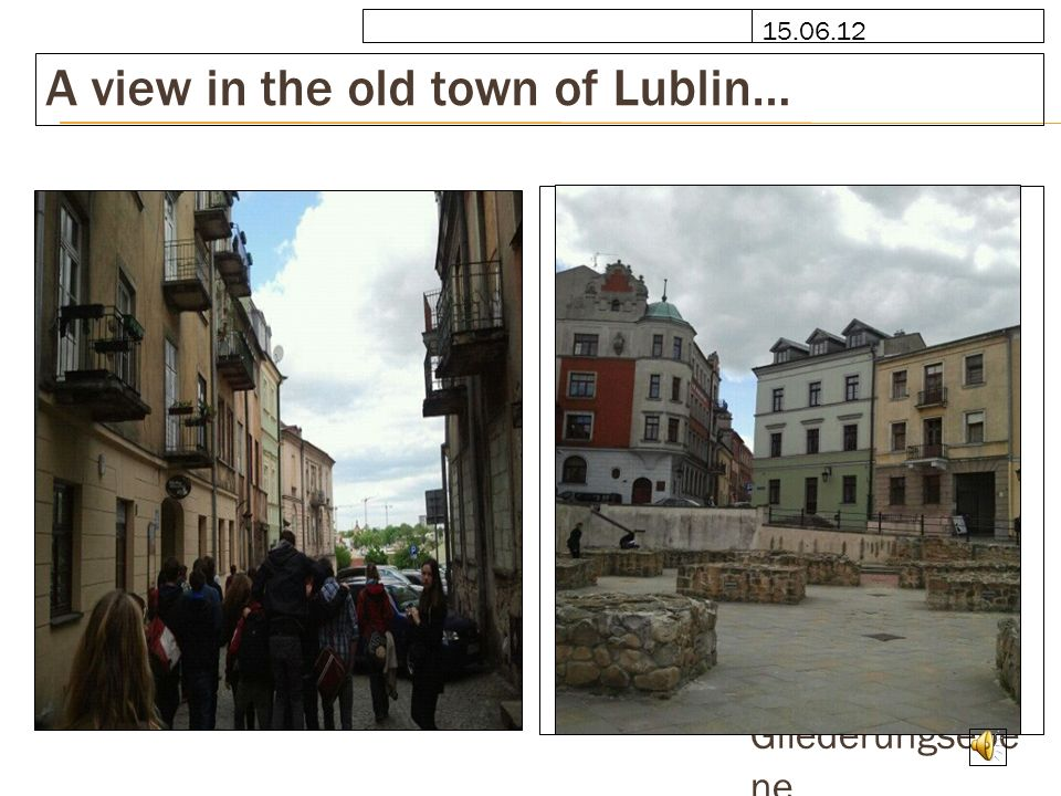 A view in the old town of Lublin…