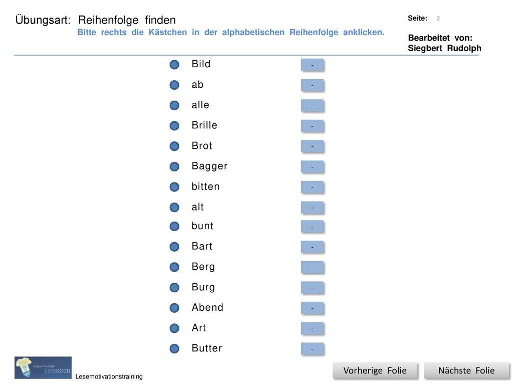 Titel: Quelle: Übungsart: Titel: Quelle: Wörter sortieren - ppt ...