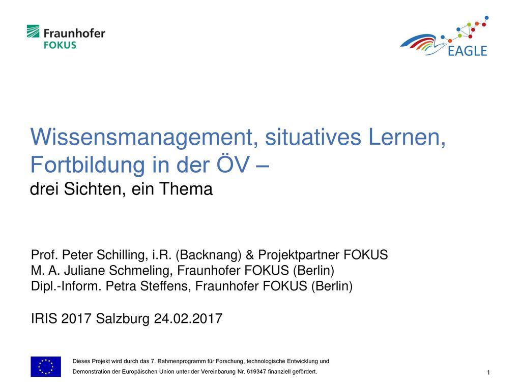 Prof. Peter Schilling, i.R. (Backnang) & Projektpartner FOKUS - ppt ...