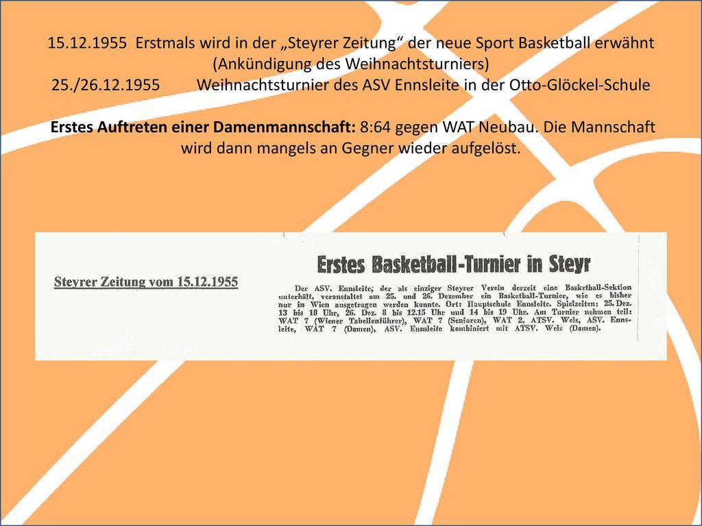 FINAL DAY Jahre Basketball in OÖ und Steyr Eine bewegte Geschichte ...
