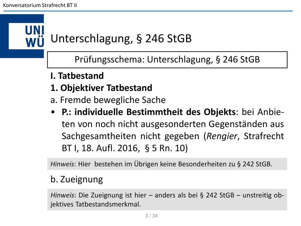 Konversatorium zum Strafrecht BT II - ppt herunterladen