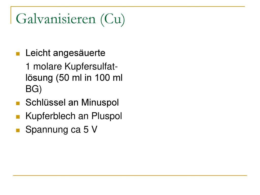 Demonstrationspraktikum Chemie für LAK - ppt herunterladen