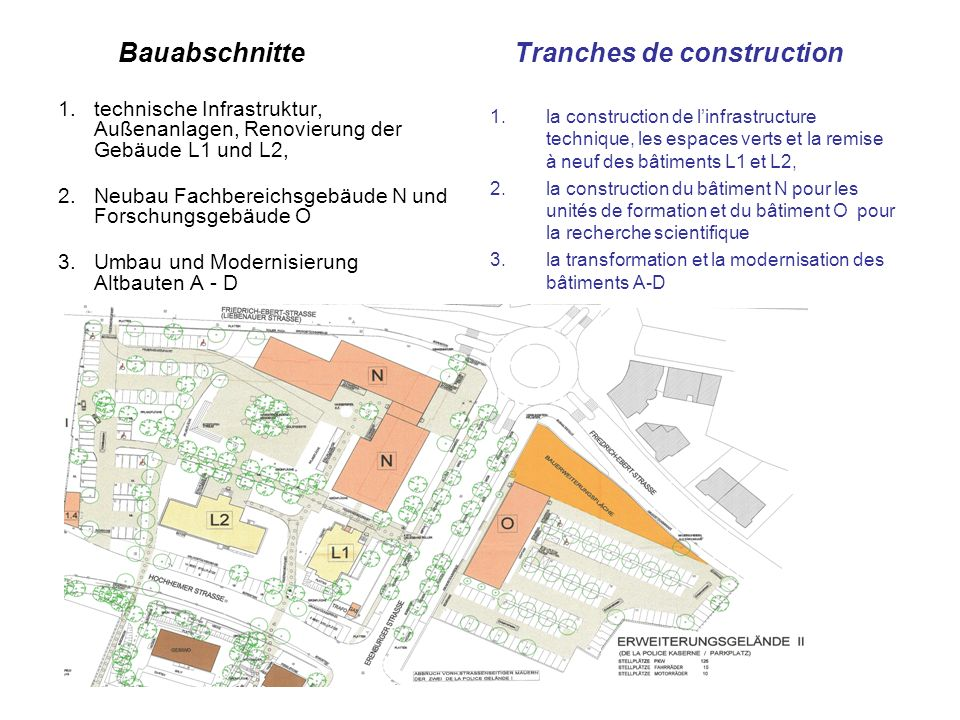 Bauabschnitte Tranches de construction