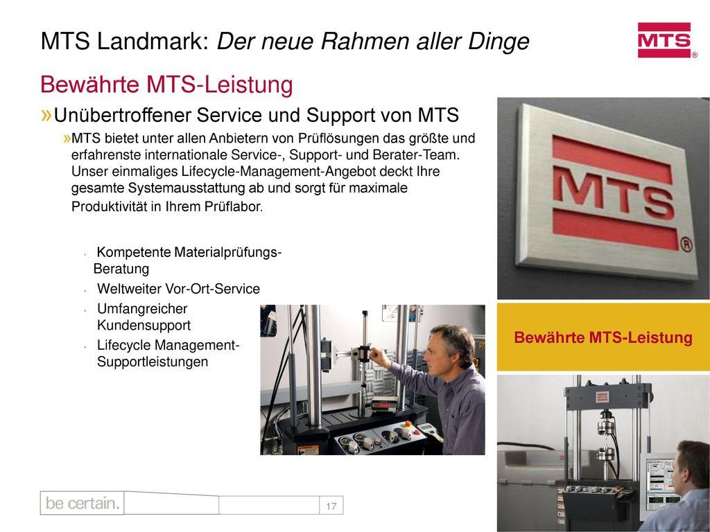 MTS Landmark™: Der neue Rahmen aller Dinge - ppt herunterladen