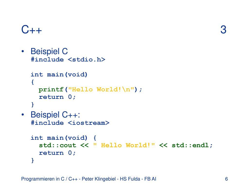Programmieren In C C Erste Schritte Mit C Klassen Und Objekte Ppt Herunterladen