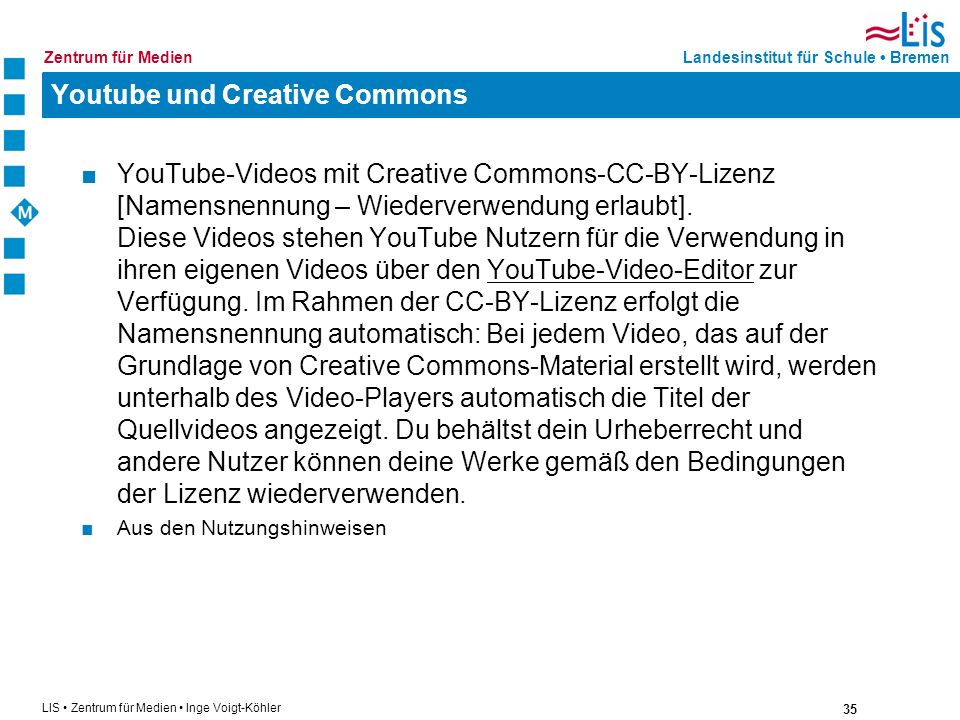Youtube und Creative Commons