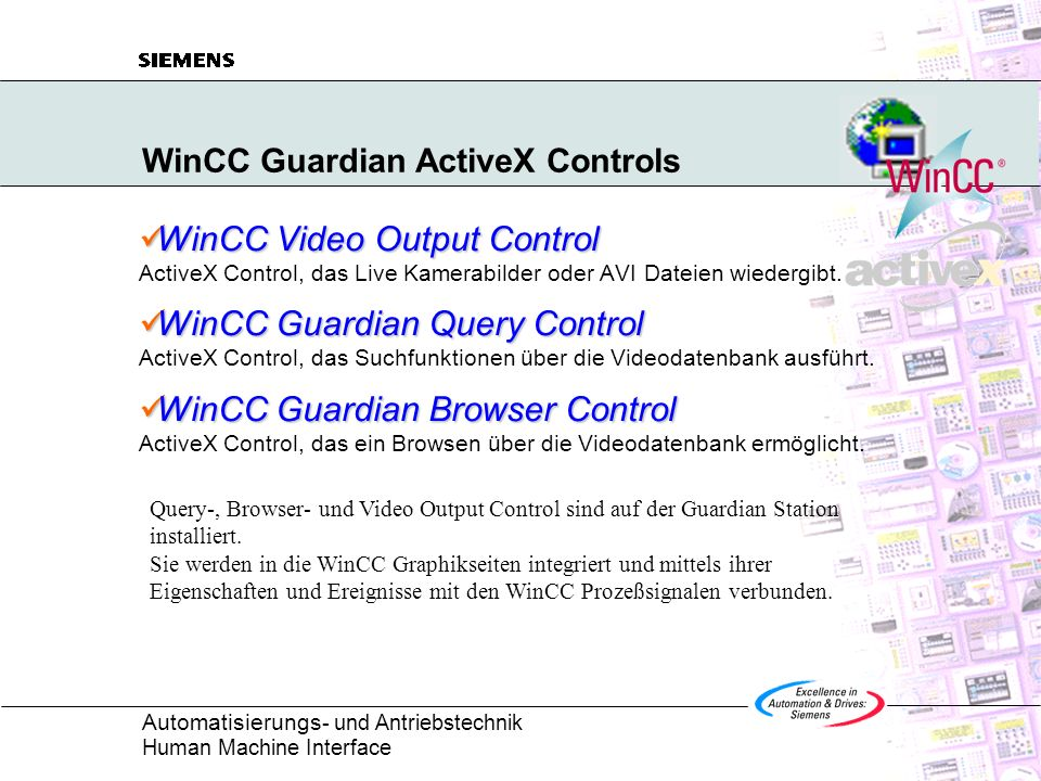 WinCC Guardian ActiveX Controls