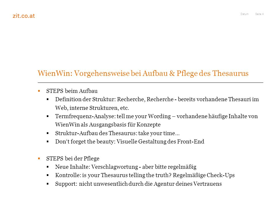 Semantische Suche Innovationsdatenbank Wienwin Der Zit Ppt