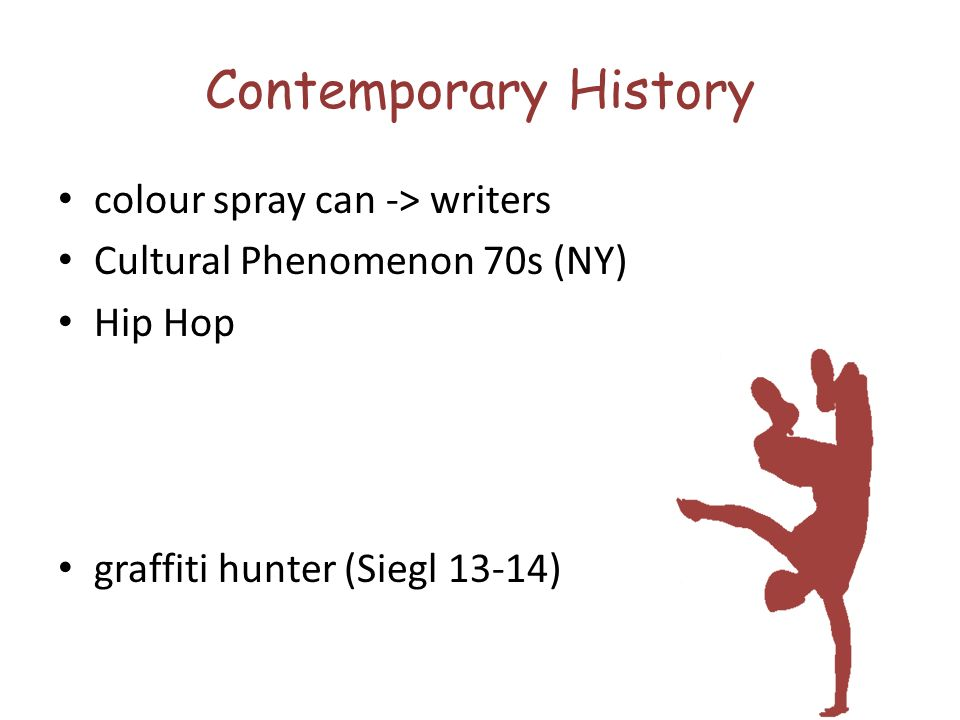 Contemporary History colour spray can -> writers