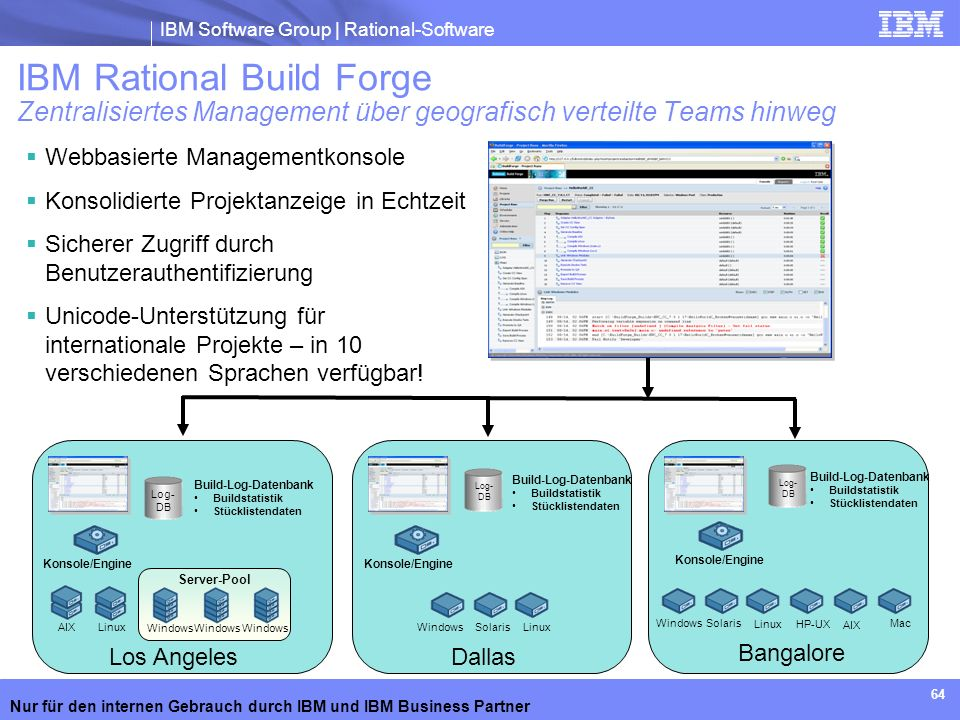IBM Rational Build Forge Zentralisiertes Management über geografisch verteilte Teams hinweg