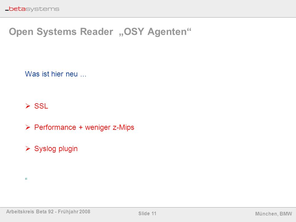 "Open Systems Reader ""OSY Agenten"