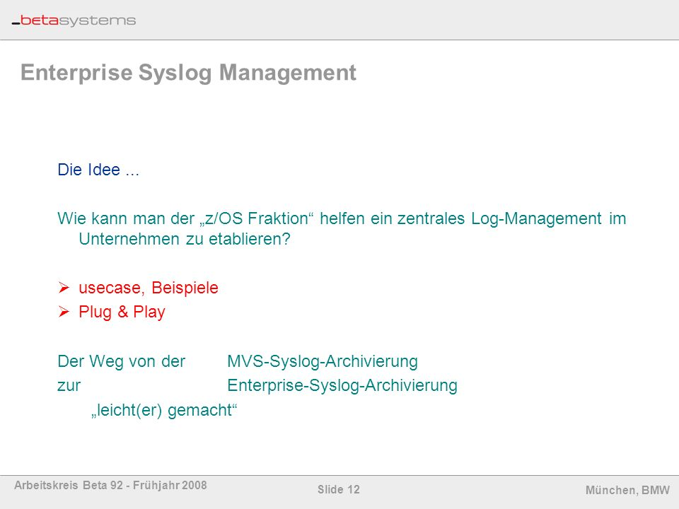 Enterprise Syslog Management