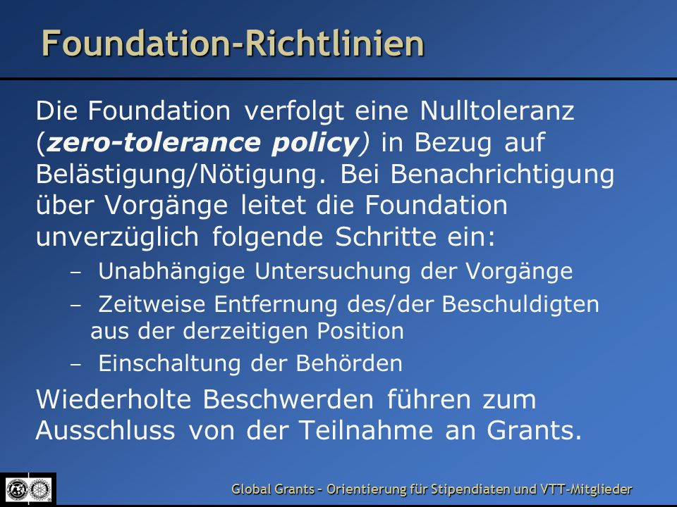 Foundation-Richtlinien