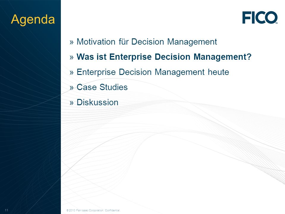 Agenda Motivation für Decision Management
