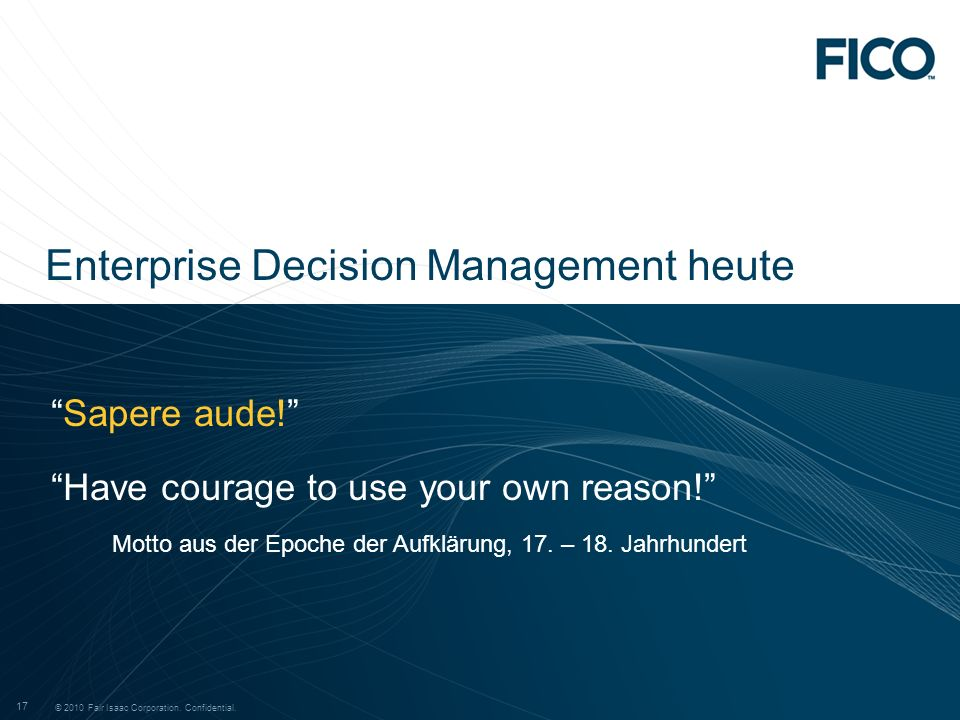 Enterprise Decision Management heute
