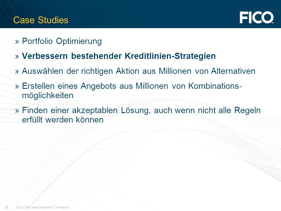 Case Studies Portfolio Optimierung