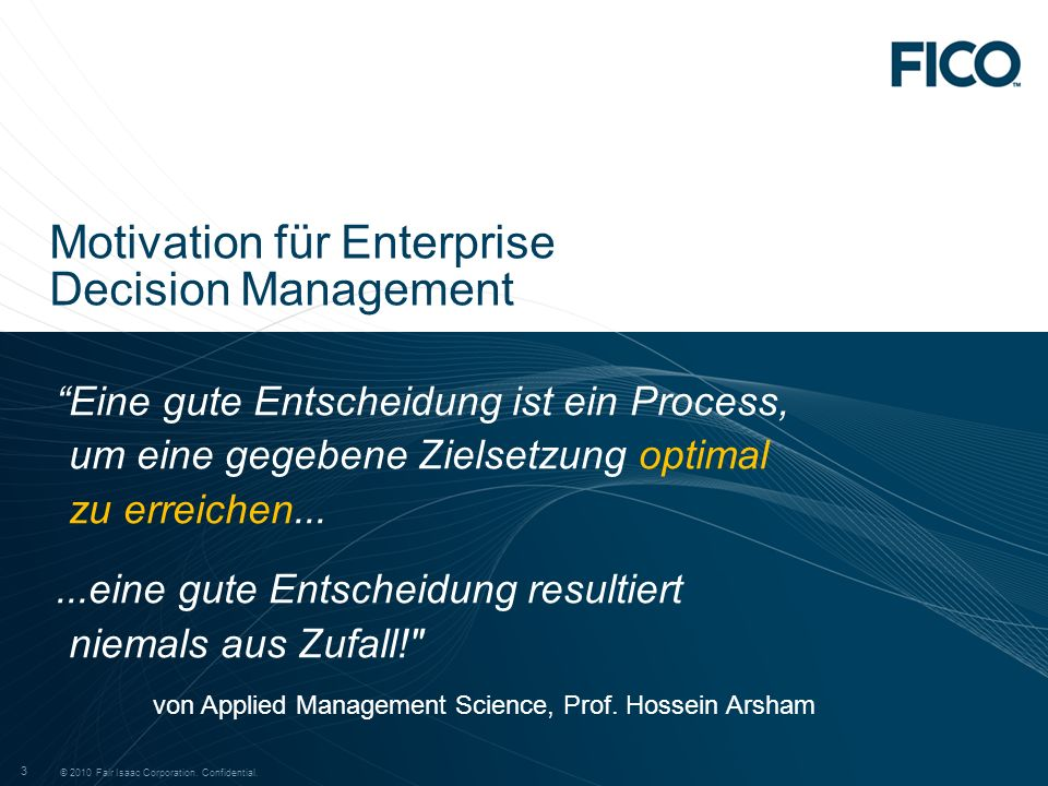 Motivation für Enterprise Decision Management