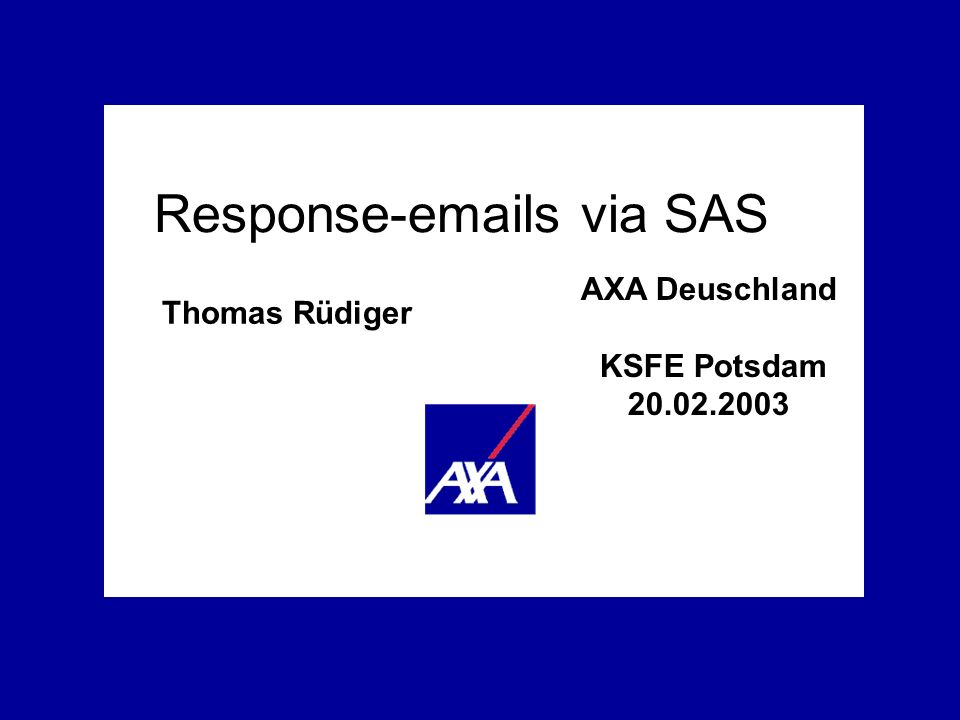 Response-emails via SAS