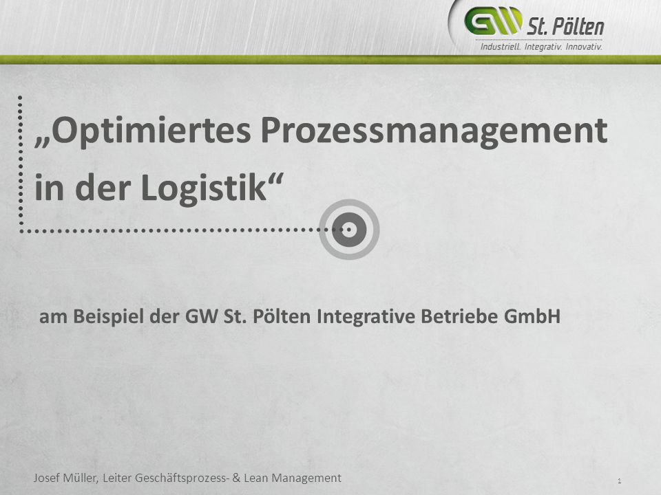 """Optimiertes Prozessmanagement in der Logistik"