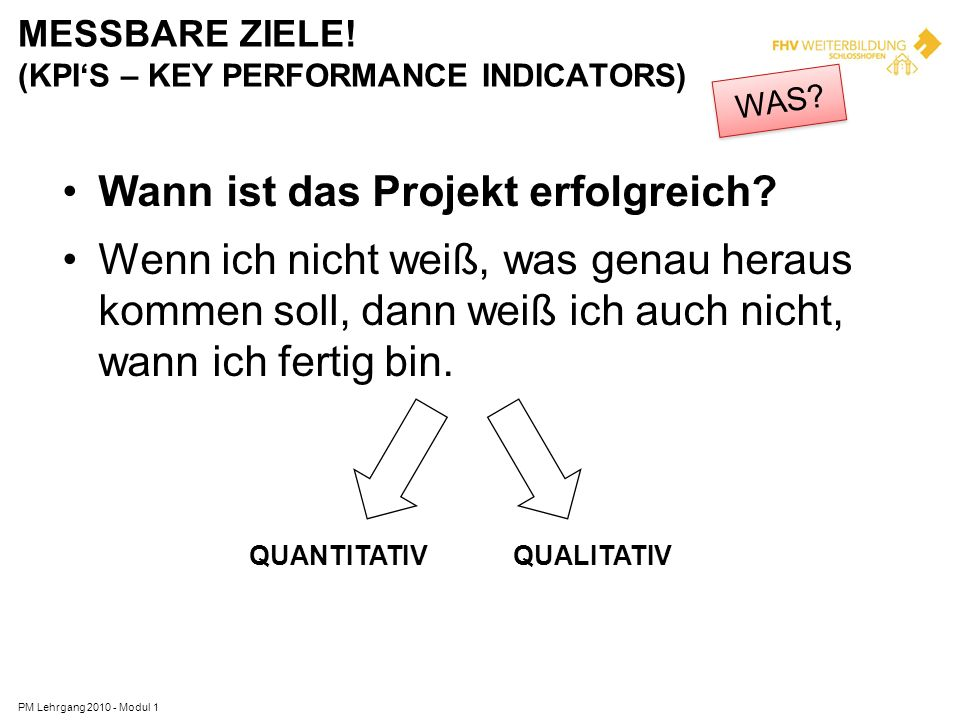 MESSBARE ZIELE! (KPI'S – KEY PERFORMANCE INDICATORS)