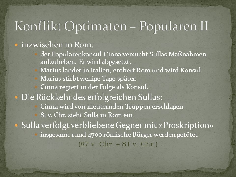 Konflikt Optimaten – Popularen II