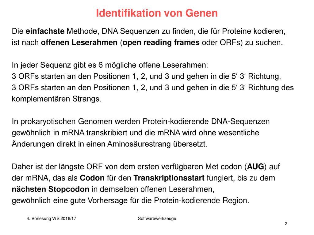 V4 – Analyse von Genomsequenzen - ppt herunterladen