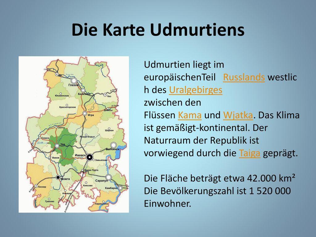 Uralgebirge Karte.Sprachlyzeum Nr 22 Meine Heimat Udmurtien Ppt Herunterladen