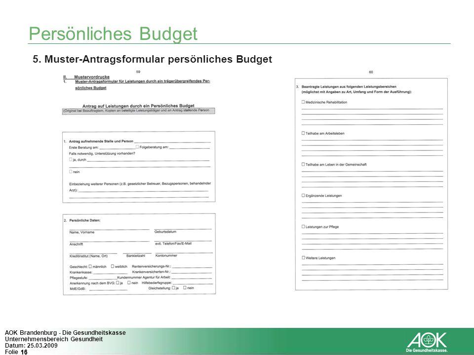 Personliches Budget Eine Andere Form Der Medizinischen Und Pflegerischen Versorgung Von Menschen Mit Einer Behinderung Ppt Herunterladen
