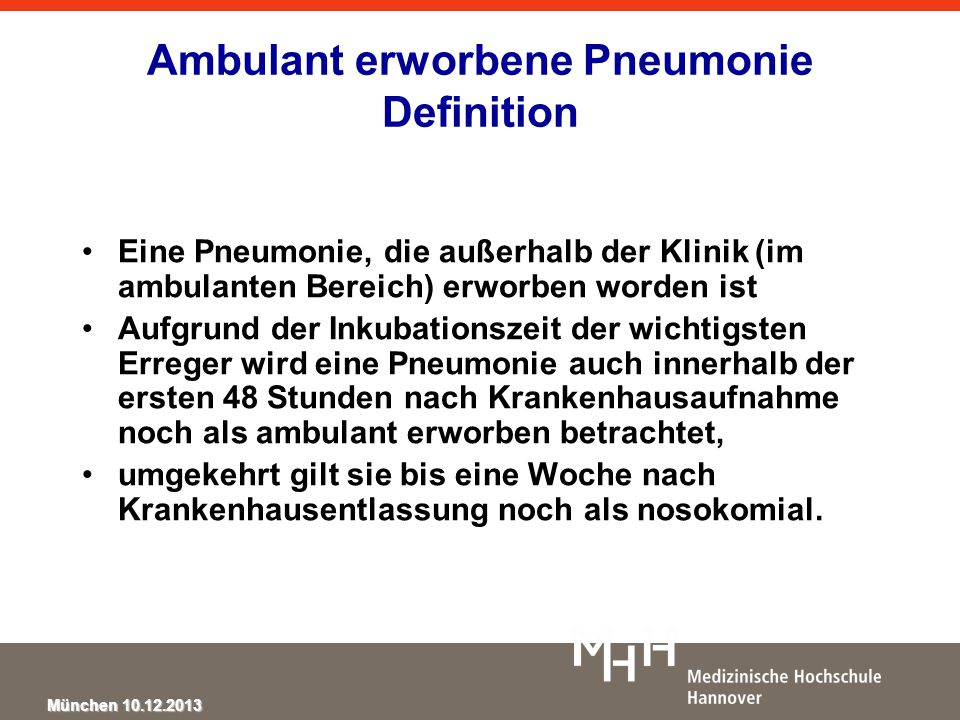 Ambulant erworbene Pneumonie Definition