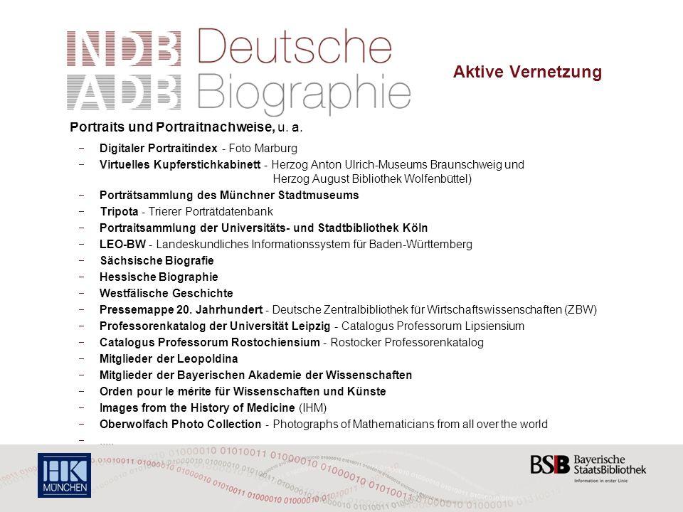 Porträts Und Porträtnachweise In Der Neuen Deutschen Biographie