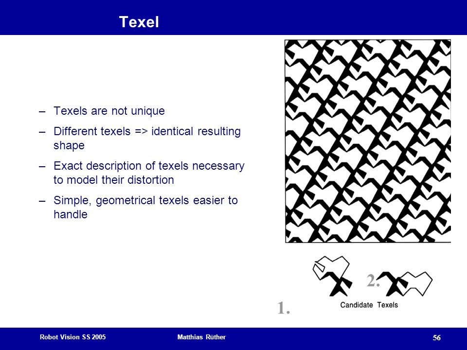 2. 1. Texel Texels are not unique