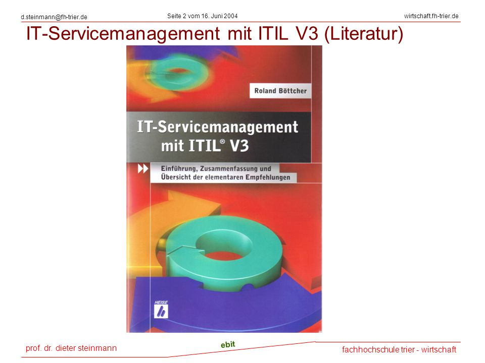 IT-Servicemanagement mit ITIL V3 (Literatur)